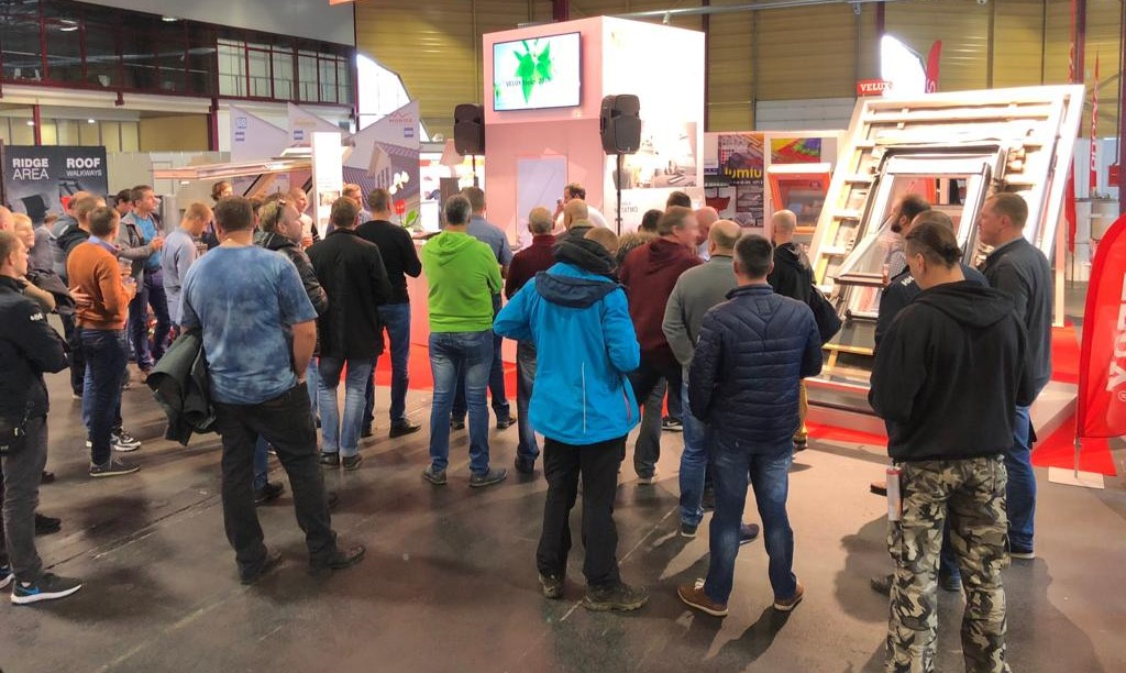 Installers in VELUX exhibition area