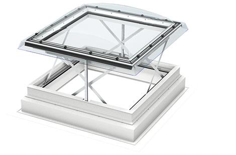 Finestra per tetti piani velux per l 39 evacuazione di fumo e calore con cupola - Uscire da finestra layout autocad ...
