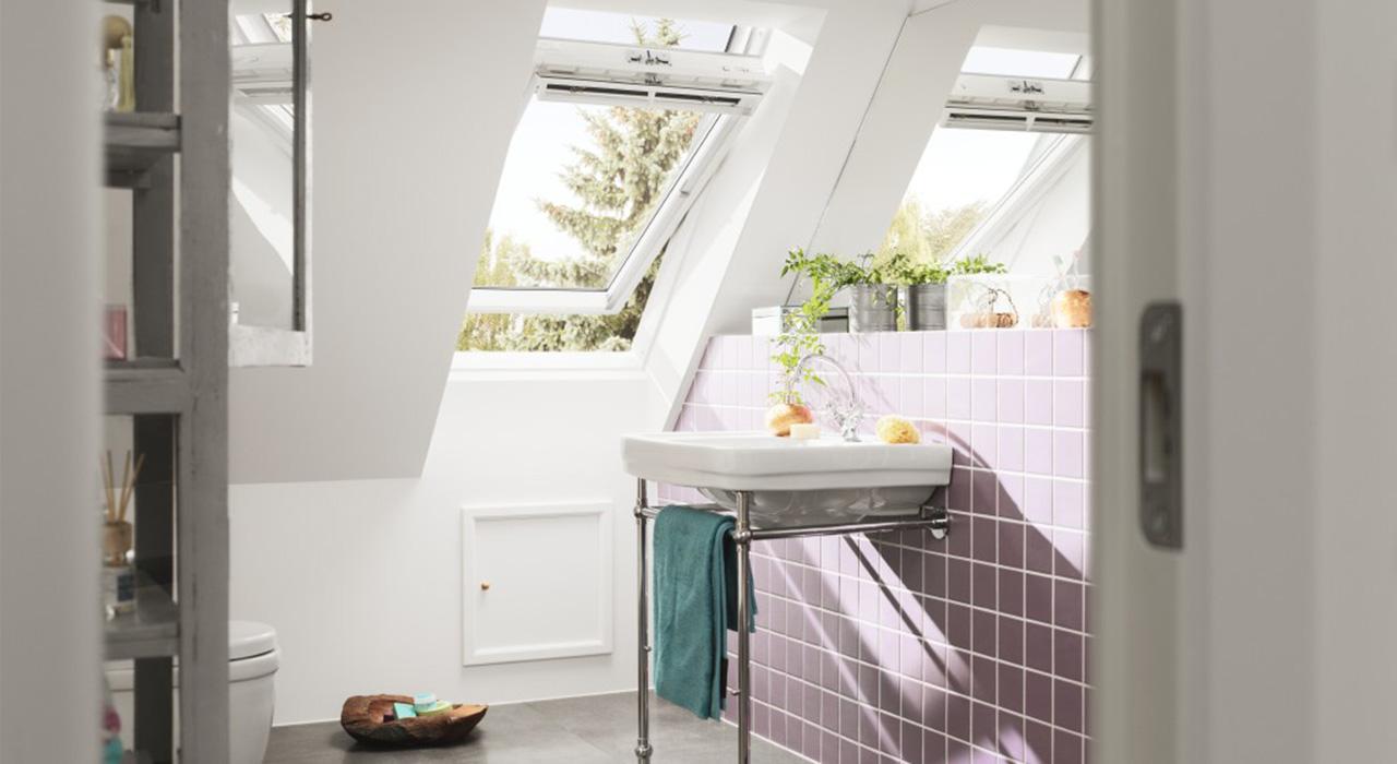 salle de bains - photos d'inspiration pour aménager les fenêtres ... - Velux Pour Salle De Bain