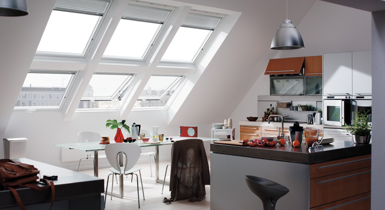 Kitchen Roof Design view in gallery eclectic kitchen design with island bar and cool blue ceiling Inspiration Gallery