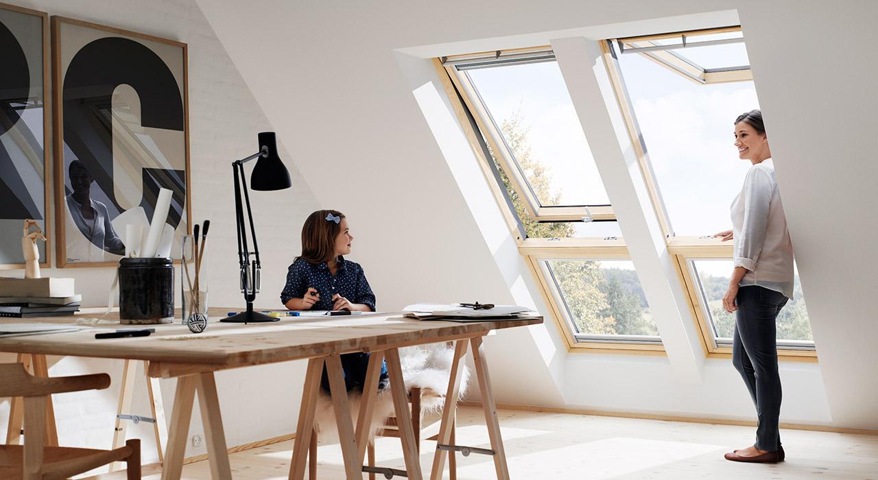 Ideen und Inspiration für Ihr Büro / Homeoffice mit VELUX Dachfenstern