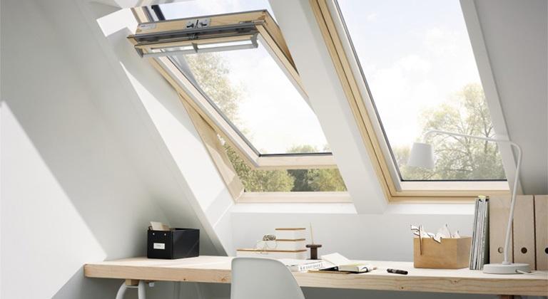 home office mit dachfenster ideen bilder, ideen und inspiration für ihr büro / homeoffice mit velux dachfenstern, Design ideen