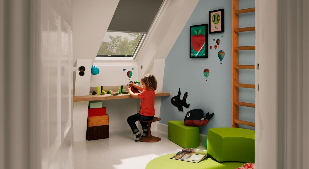 Ideen und Inspiration für Kinderzimmer mit VELUX Dachfenstern