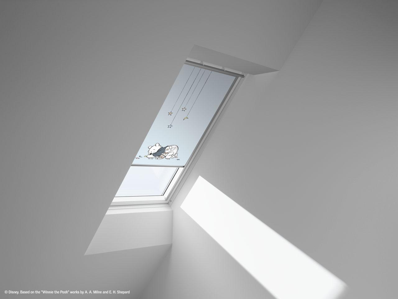 disney velux goodnight collection verdunkelungsrollos f r kinderzimmer. Black Bedroom Furniture Sets. Home Design Ideas