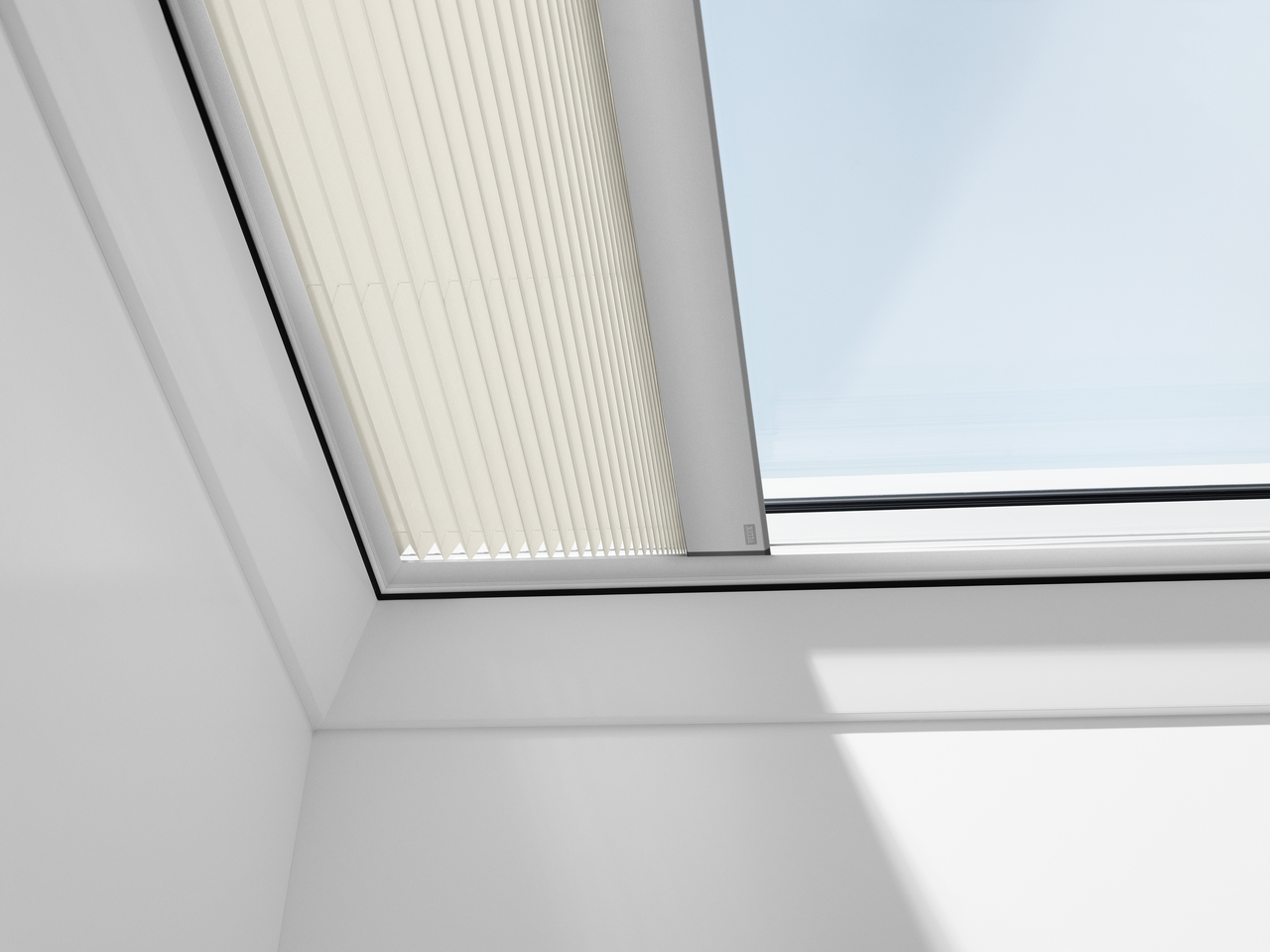 Velux pleated blinds for flat roof window for Velux window shades