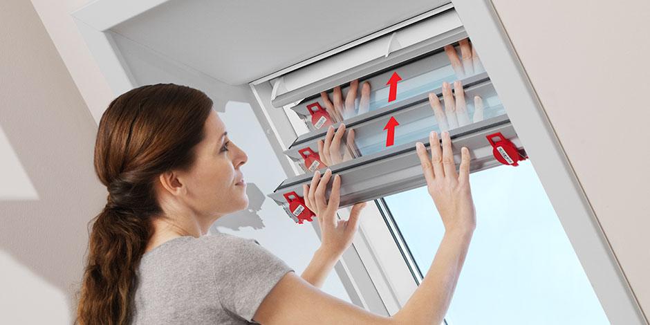 Tende energetiche velux isolamento termico e privacy in uno for Montaggio velux