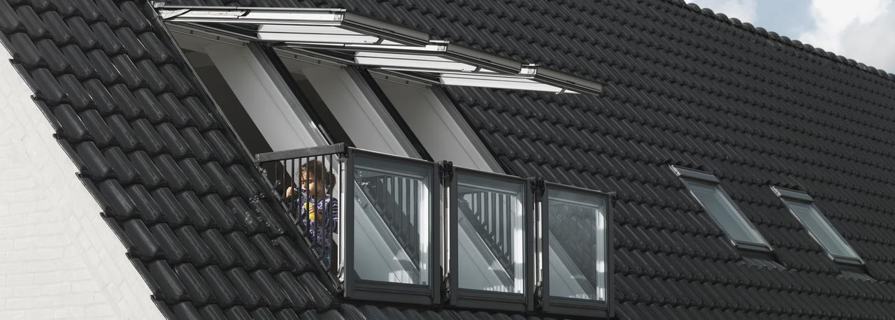 dachfenster balkon cabrio interieur, velux gdl cabrio™ – im handumdrehen ein kleiner dachbalkon, Design ideen