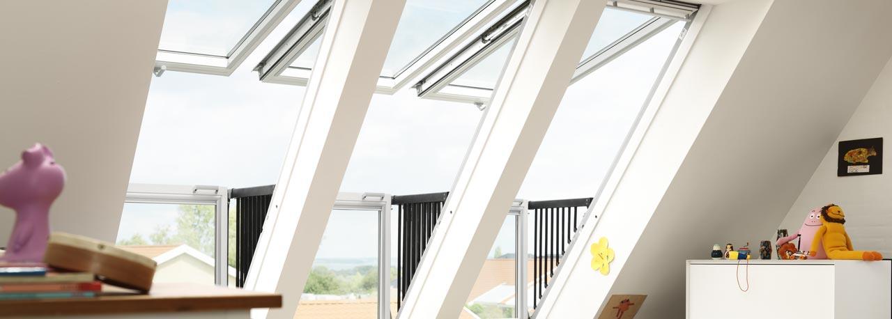 Velux Cabrio Balcony Windows Deck Mounted