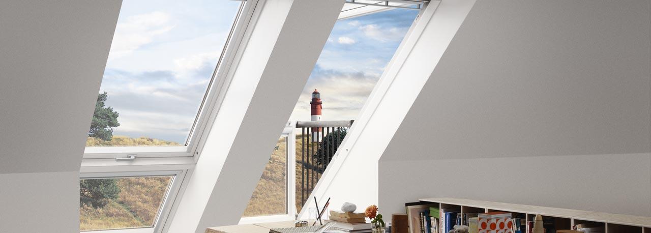 VELUX CABRIO™ - im Handumdrehen vom Dachfenster zum Dachbalkon