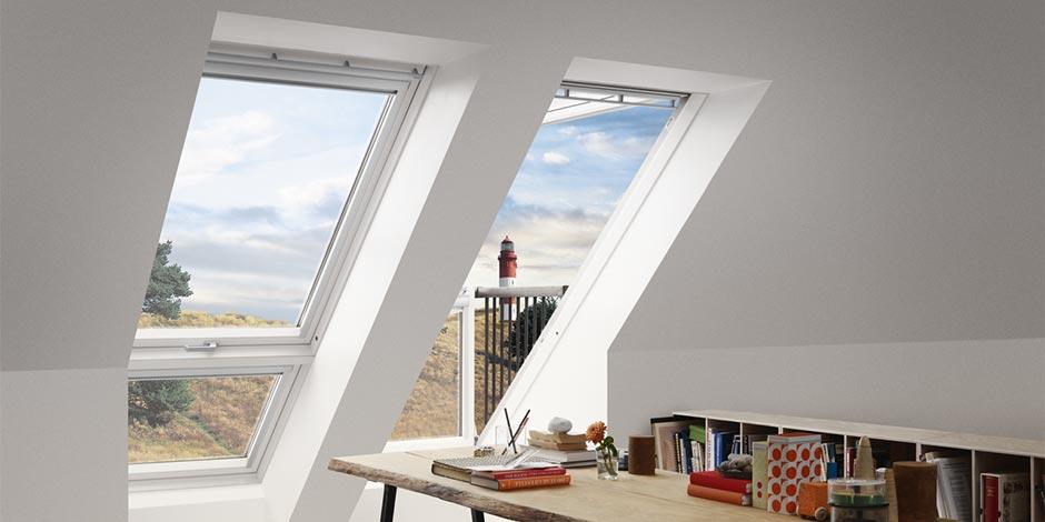 Finestre con apertura a bilico velux vista libera for Finestre tipo velux