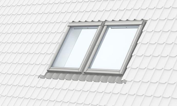 Velux Einbauplane Schnitte Fensterkombinationen