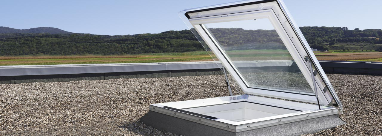 Velux Flat Roof Skylights Light And Fresh Air In Buildings