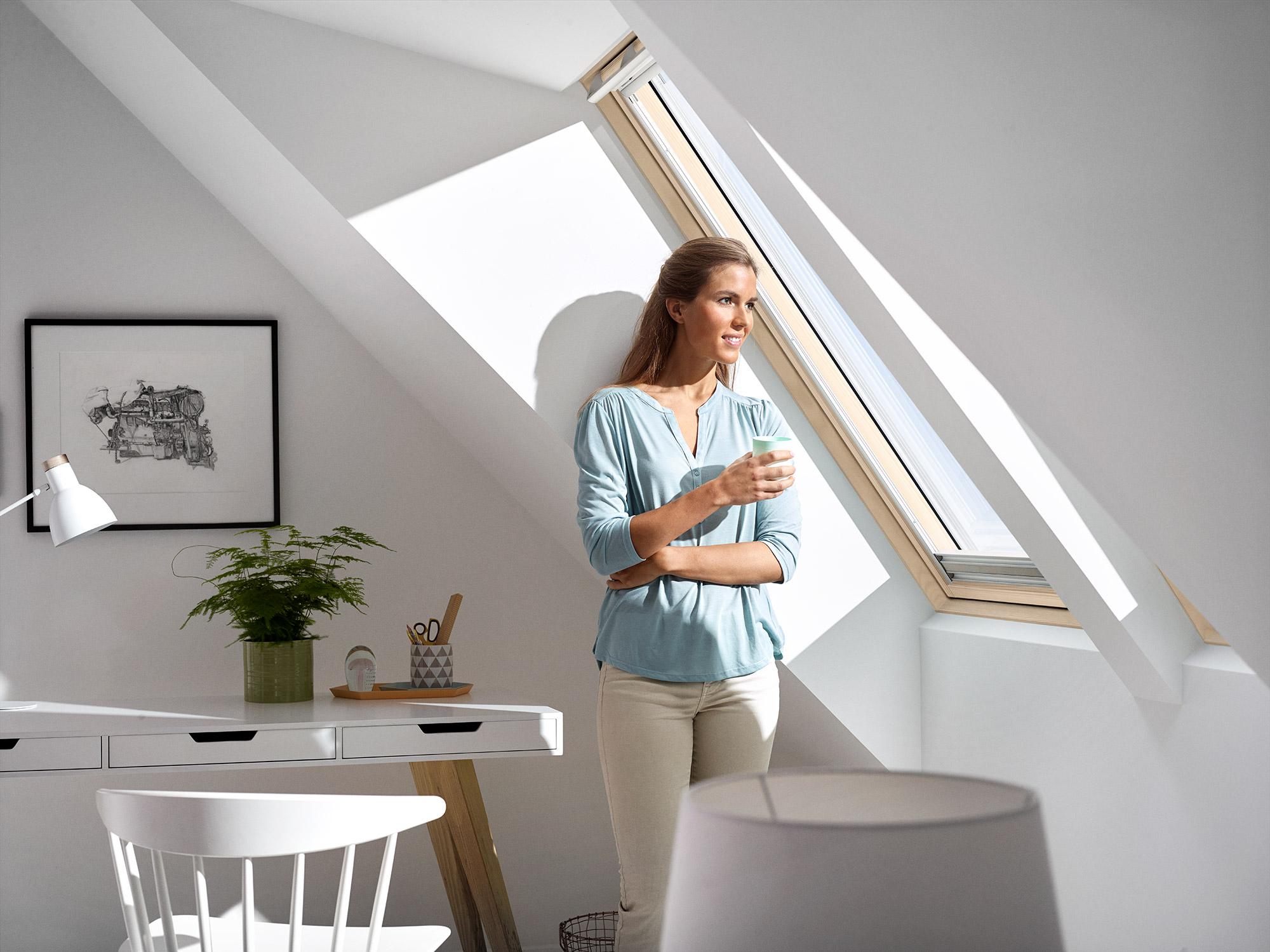 Finestre per tetti velux con apertura a bilico for Finestre velux per tetti