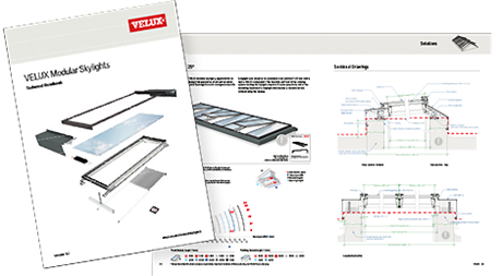 VELUX longlight 5 - 25° - Longlights for flat roofs