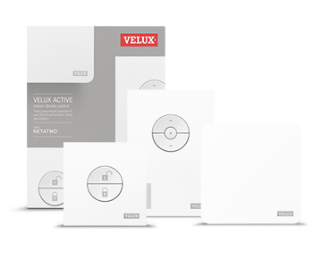 velux active kit including departure switch, indoor climate sensor, and gateway