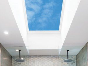bathroom skylights above two shower heads in christchurch