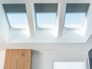 kitchen skylights with the sky and lights in auckland