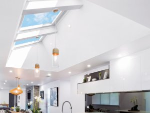 kitchen skylights with lights and complete interior in auckland