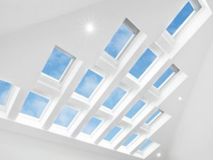 living room skylights with impressive sky views and daylight in christchurch
