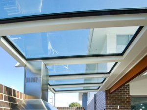 outdoor skylights in patio and barbecue area in wellington