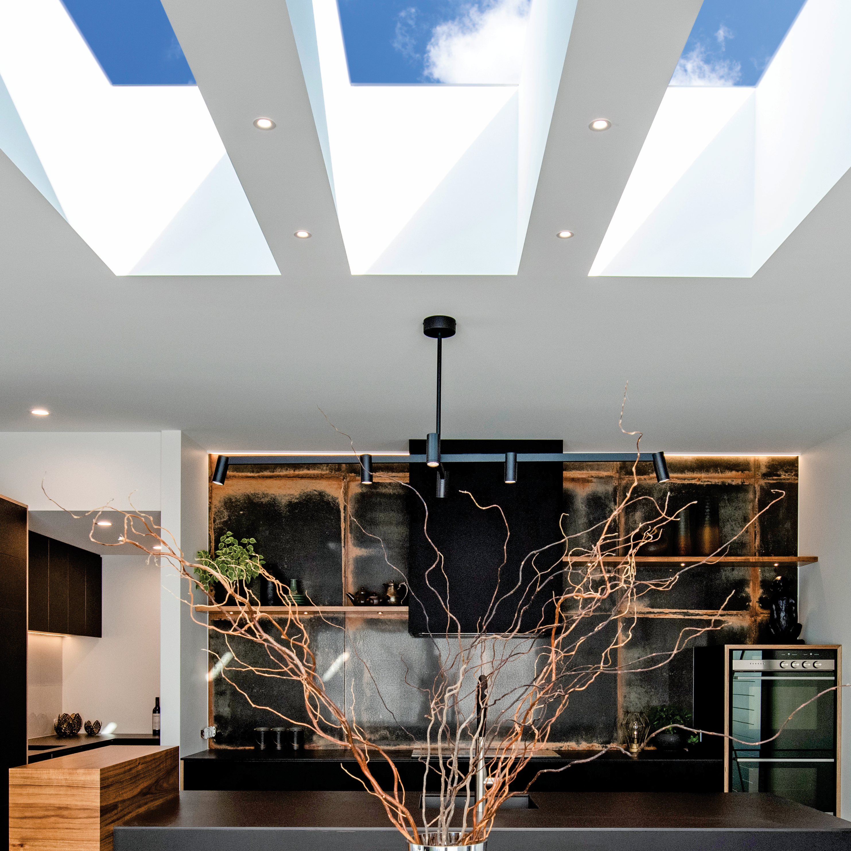 skylights in kitchen with nice interior in auckland