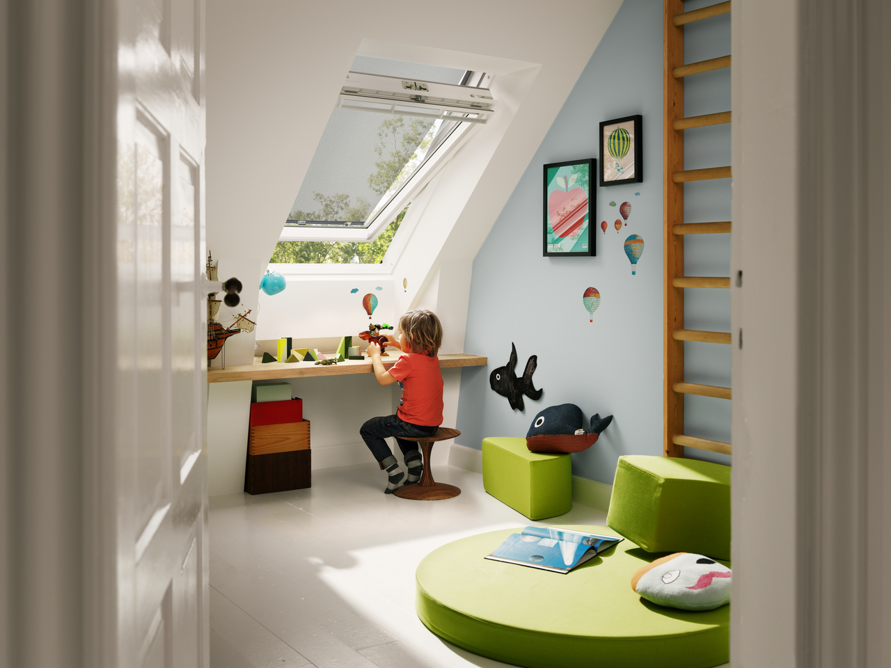 store ext rieur pare soleil pour fen tre de toit velux velux france. Black Bedroom Furniture Sets. Home Design Ideas