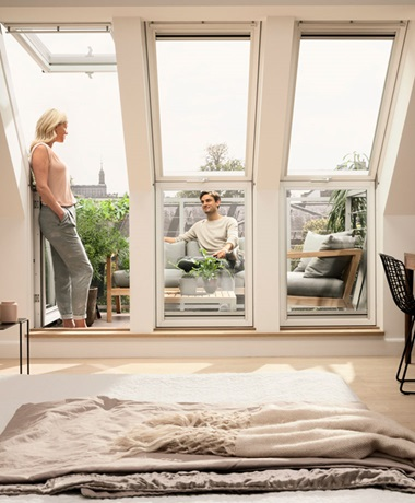 VELUX roof terrace - enjoy the added space and light