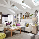 Living room with Solar 'Fresh Air' Skylight