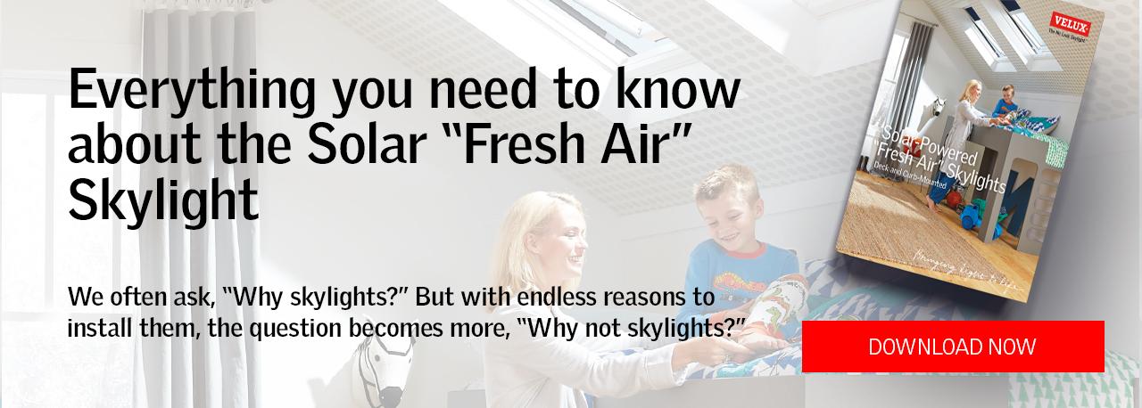 Solar Powered Fresh Air Skylight Guide eBook
