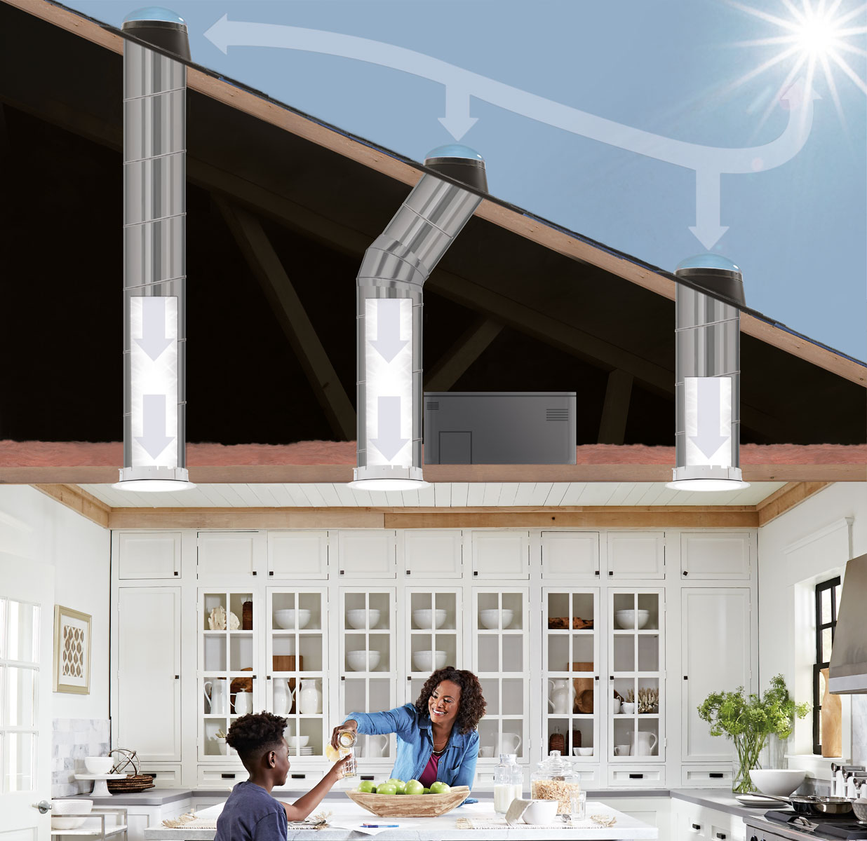 Velux Sun Tunnel Rigid Skylights Pitched Low Profile