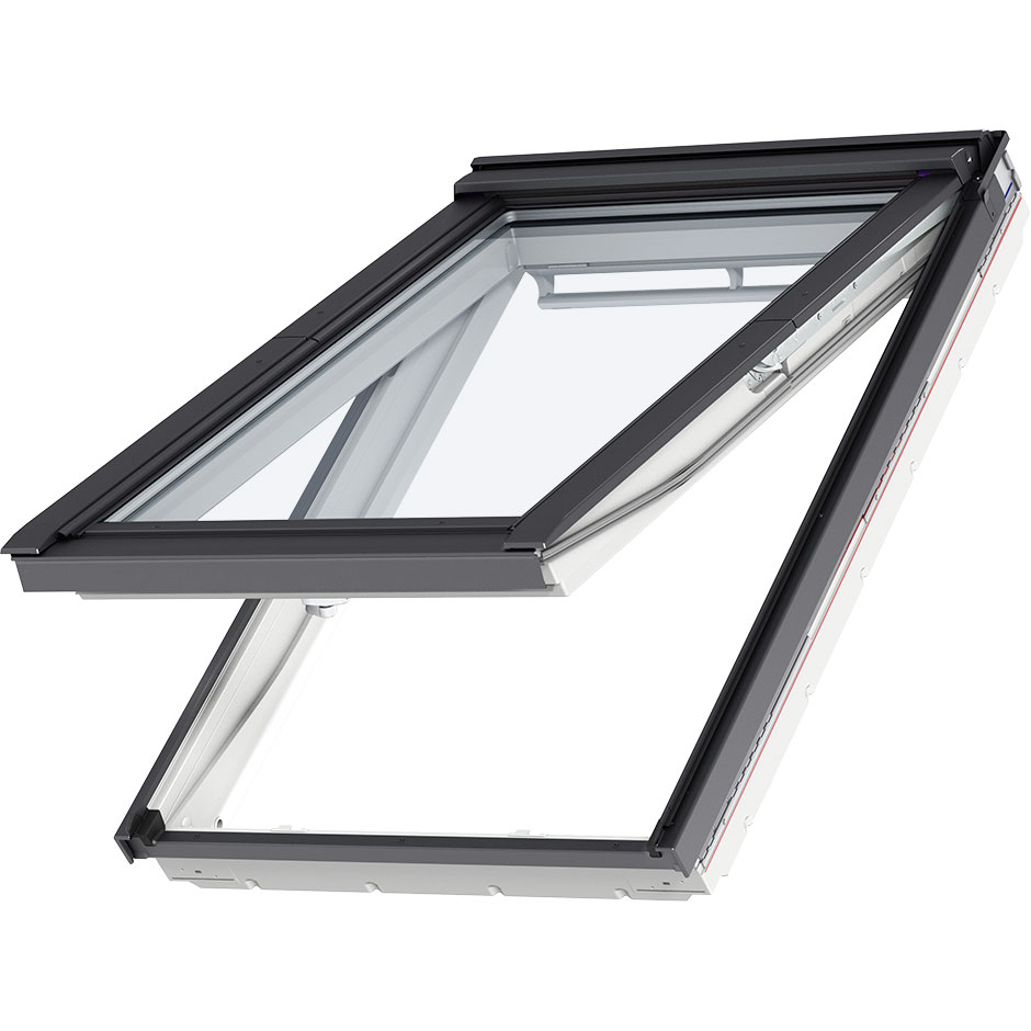 Top-hinged roof window