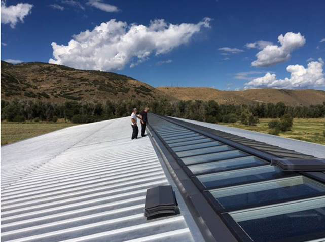 VELUX Modular Skylights make horse barn and arena fresh, healthy spaces for horses at rest or play