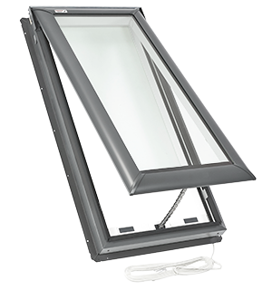 Velux electric fresh air skylight deck mounted skylights for How to clean velux skylights