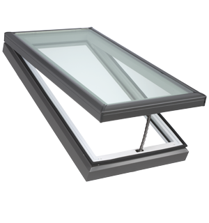 Velux manual fresh air skylight curb or deck mounted for Velux skylight remote control manual