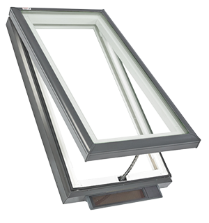 Velux solar powered fresh air skylight curb or deck for How to clean velux skylights