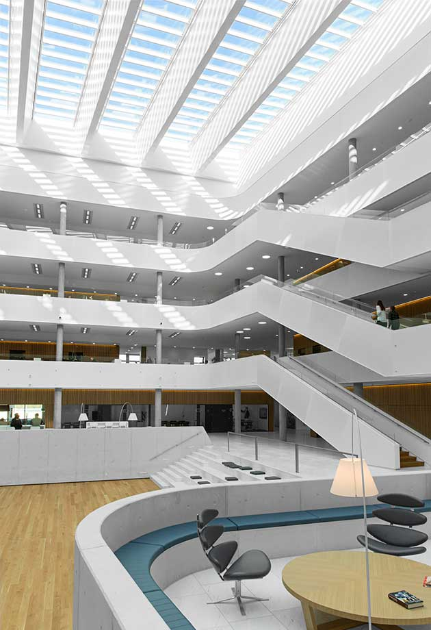 Rooflight solution with Atrium Longlight 5-30˚, DSV Headquarters, Denmark