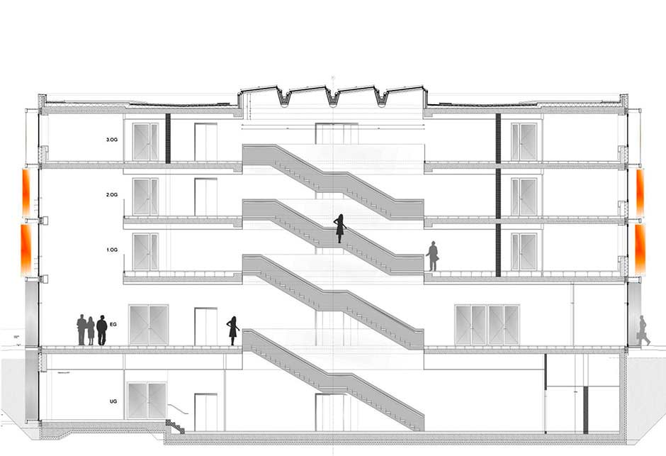 Architectural drawings DZNE - Wulf architekten