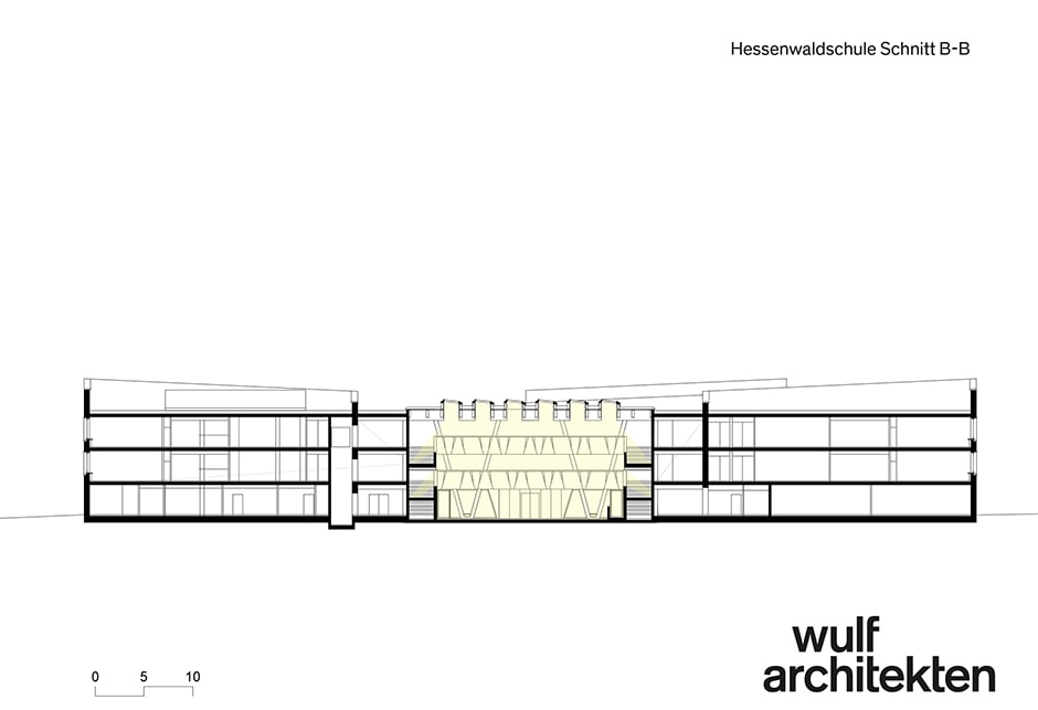 Architectural drawings of Hessenwald Schule - Wulf Architekten