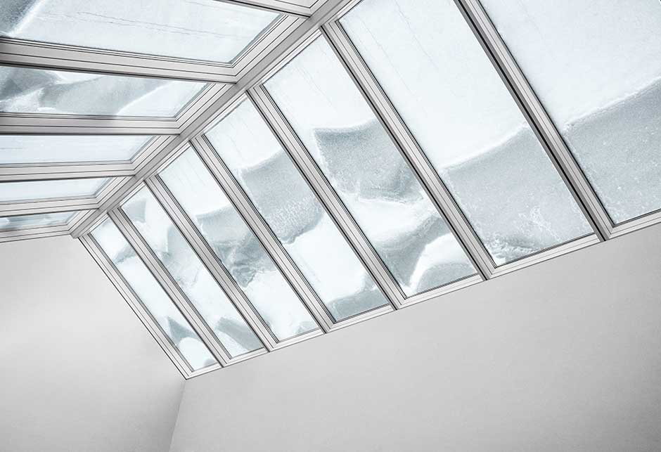 Rooflight solution with Ridgelight 25-40˚ modules, Siemens, Ballerup, Denmark, Performance