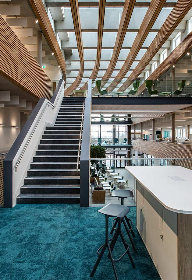 Atrium skylights in the UK Hydrographic Office