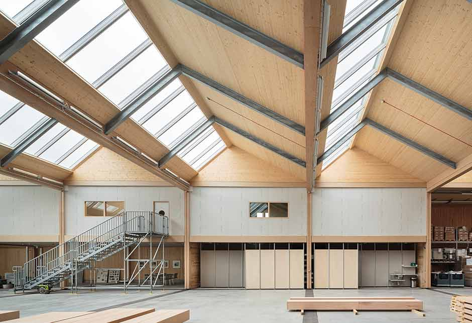 Rooflight solution with Northlight 25-90˚ modules, Vitsoe HQ, United Kingdom